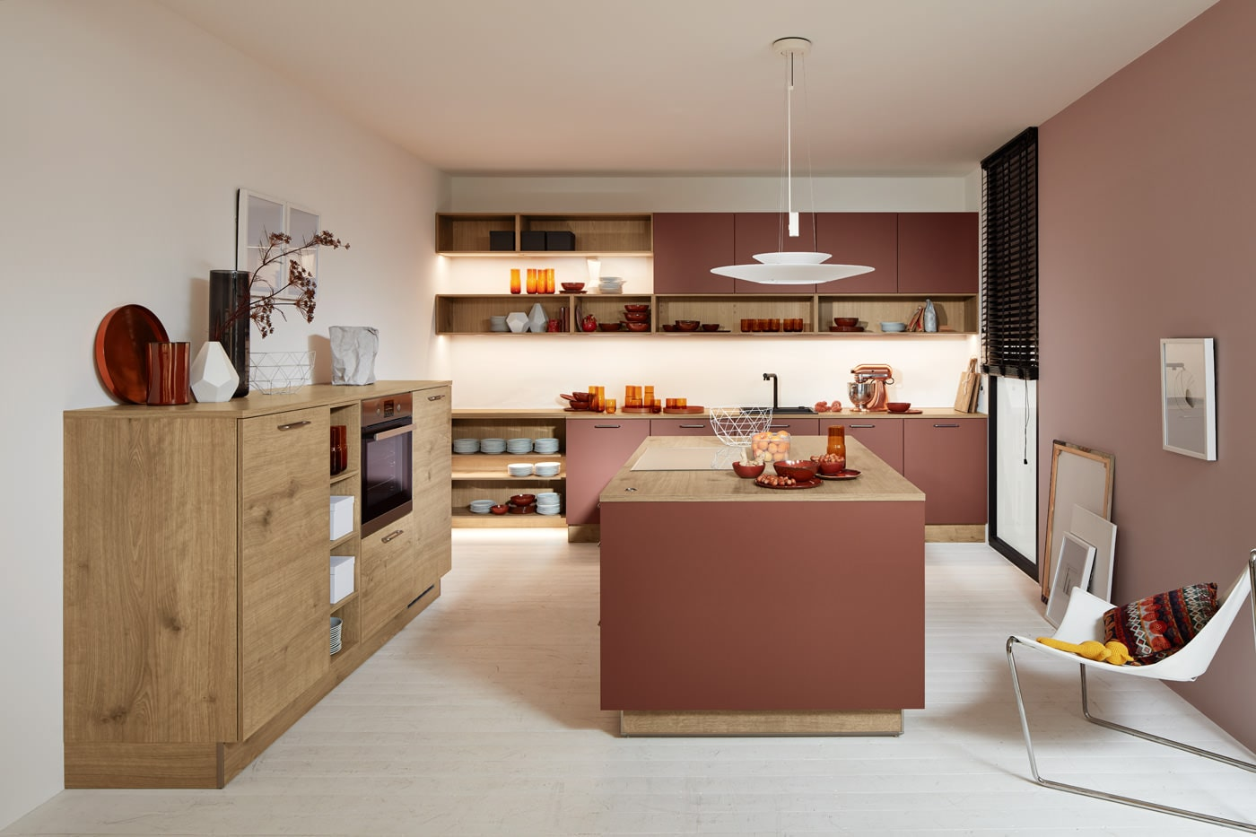 Moderne keuken met mooie kleuraccenten
