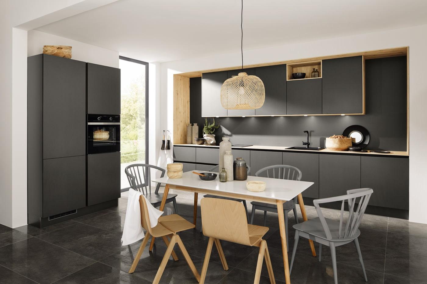Moderne keuken met charme titan graffiet