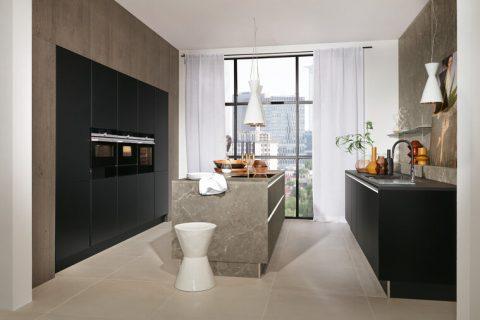Moderne keuken met klassiek marmer
