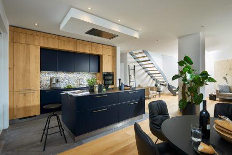 Moderne keuken Charisma Lak Blauw Legno