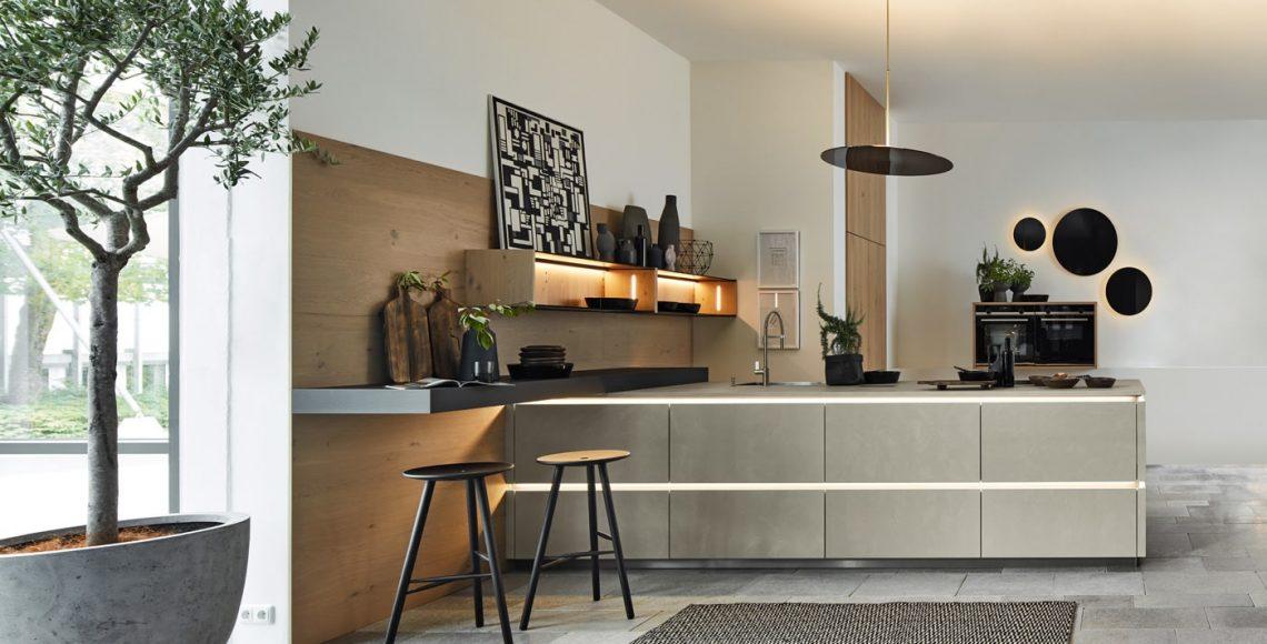 Moderne keuken Portland Saphirgrau