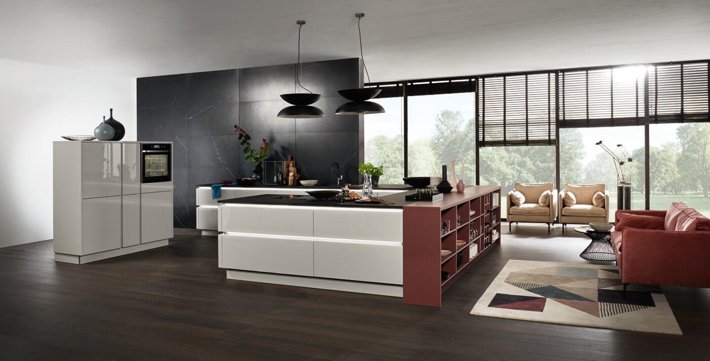 Hedendaagse keuken Nova lak platina grijs