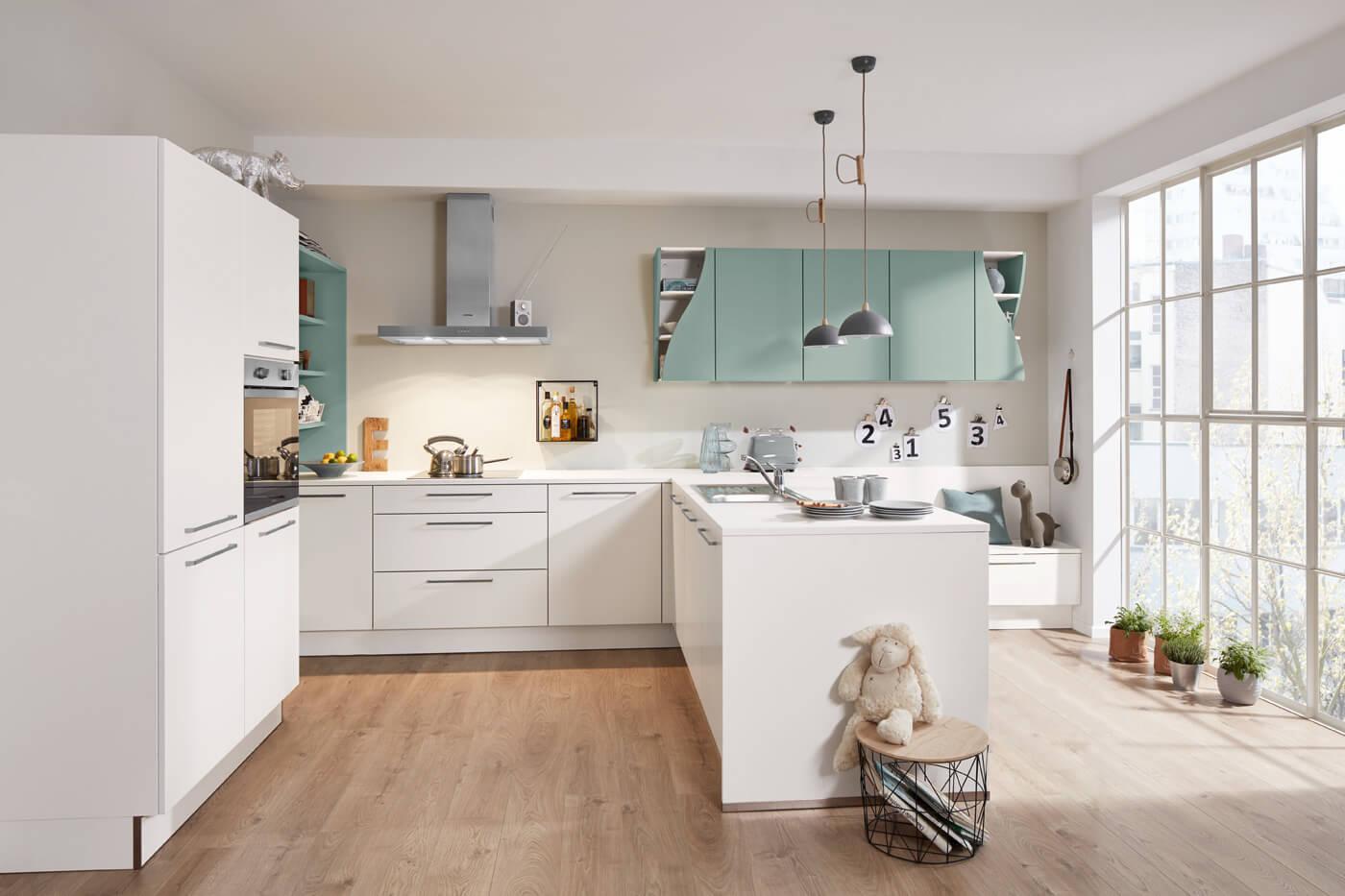 Moderne keuken opaal kleur